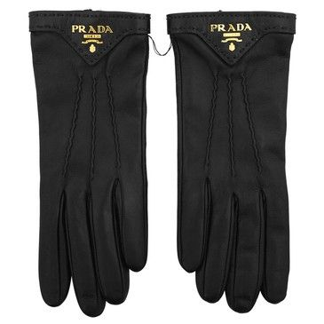 If you live in cold country, invest in quality leather gloves for #work: Prada gloves.