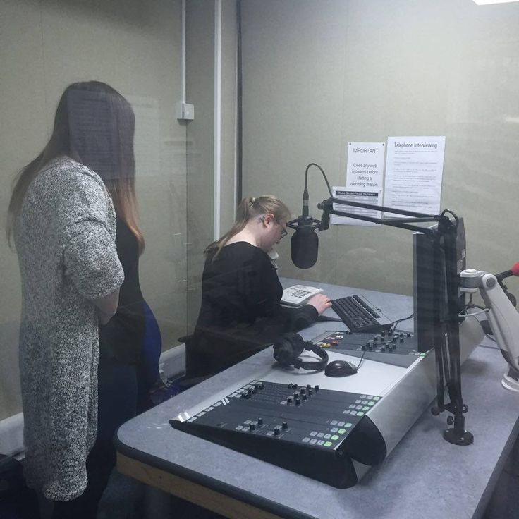 Our reporter Kelly recording an interview for the 1pm radio slot. #news #bournemouth #bammj #dorset