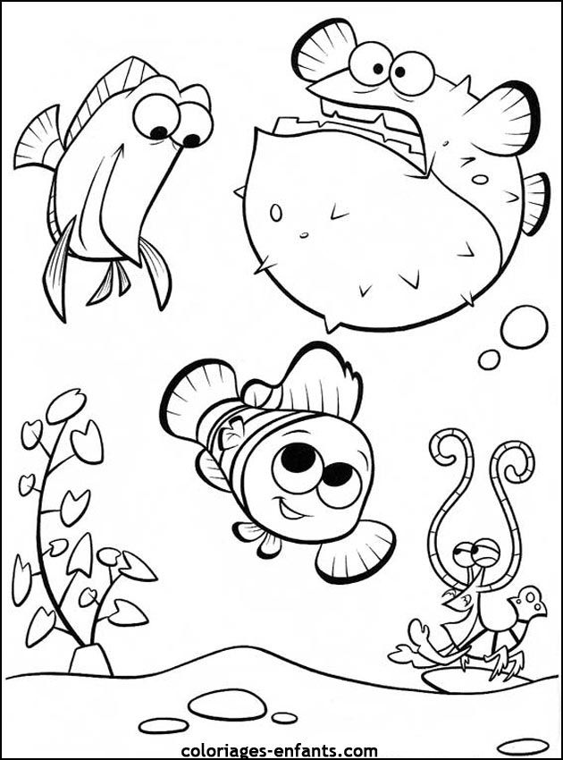 Free Nemo Coloring Pages Printable For Kids