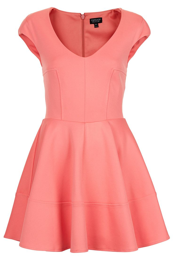 Ribbed V Front Skater Dress - New In This Week - New In - Topshop USA