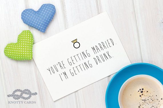Funny Engagement Card Engagement Greeting Card by KnottyCards