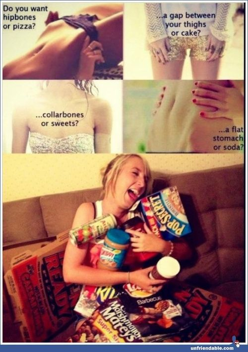 so funny lol!Thighs Gap, Cake, Flats Stomach, Hip Bones, Pizza, Funny, Junk Food, True Stories