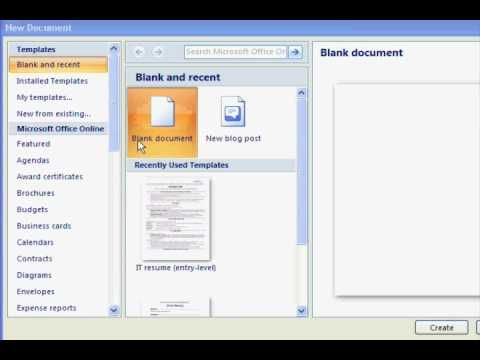Free resume templates in Microsoft Word.