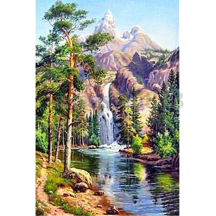 NEW Landscape Scenery 5D Diamond Painting Craft DIY Cross Stitch Home Wall Decor