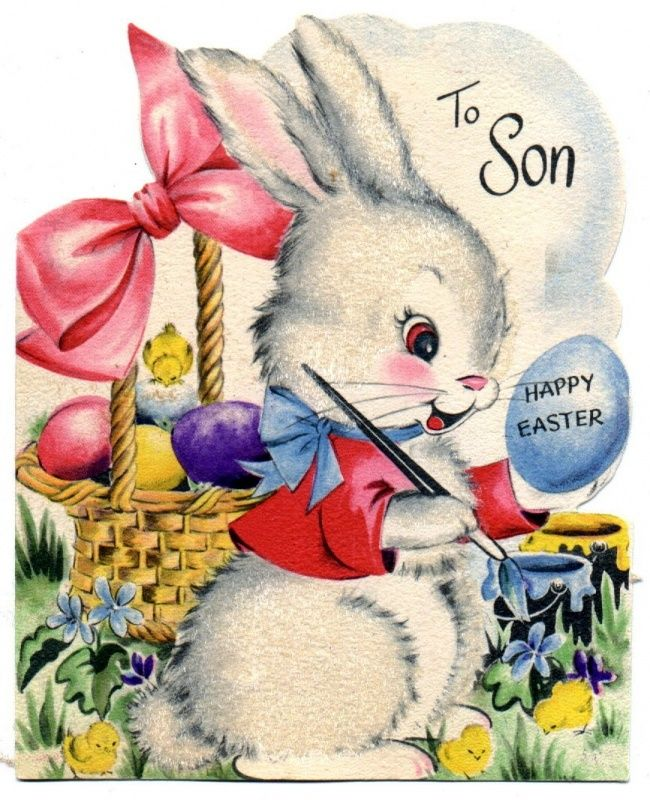 792 best easter cards vintage images on pinterest vintage items similar to easter magnet vintage theme gifts collectibles easter bunny eggs and basket on etsy negle Choice Image