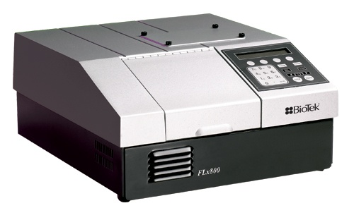 The FLx800™ Multi-Detection Microplate Reader combines excellent specifications and performance with convenience and ease of use. This design incorporates powerful performance at a price much lower than traditional fluorescence-luminescence microplate readers. The FLx800 line includes several models with options that meet the specific needs of research and OEM users.