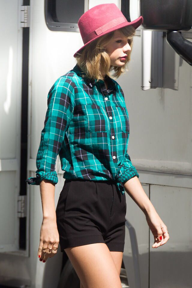 On the set of a photoshoot in New York City 9/14/14