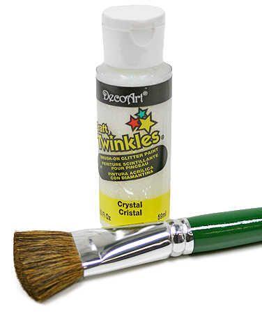 Deco Art Craft Twinkles Crystal Glitter Paint (http://factorydirectcraft.com/catalog/products/1302_2533_2291-8622-2oz_deco_art_craft_twinkles_crystal_glitter_paint.html)