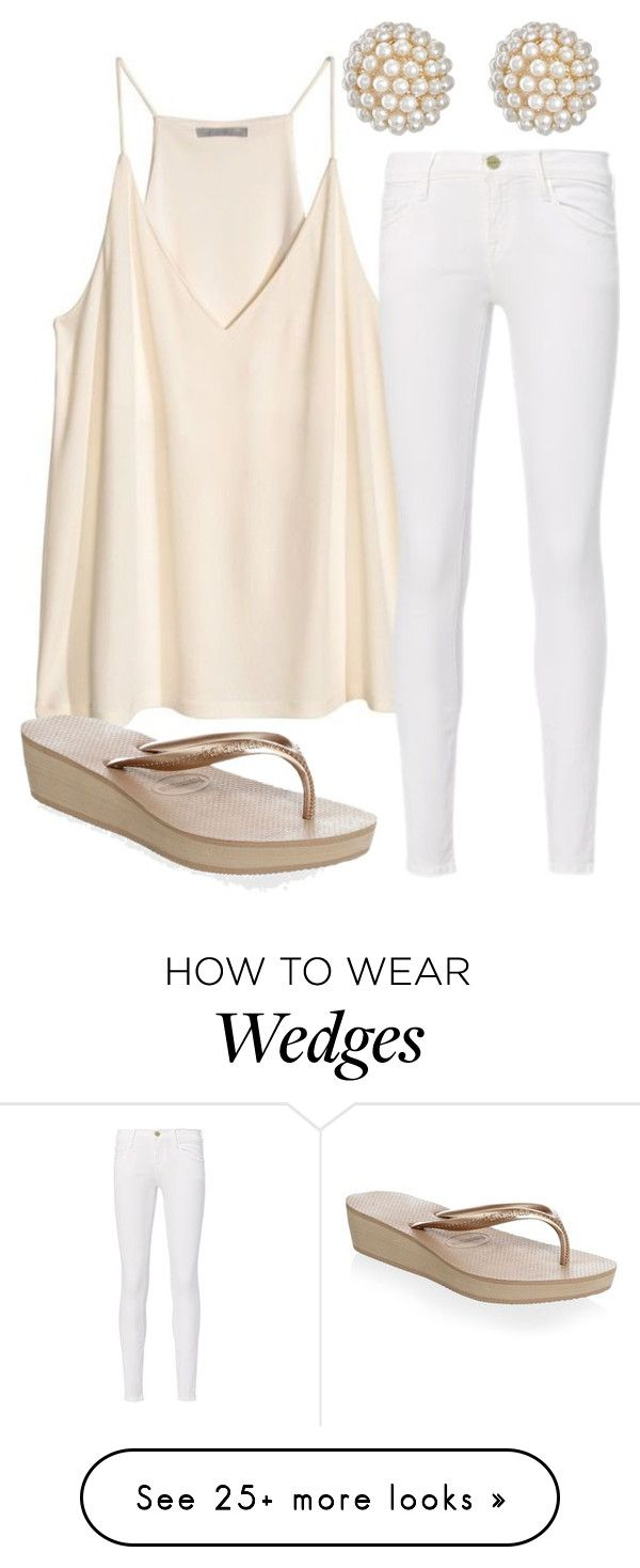 """It Shouldn't Be For You People"" by taryn-scott on Polyvore featuring H&M, Havaianas, Frame and Kenneth Jay Lane"