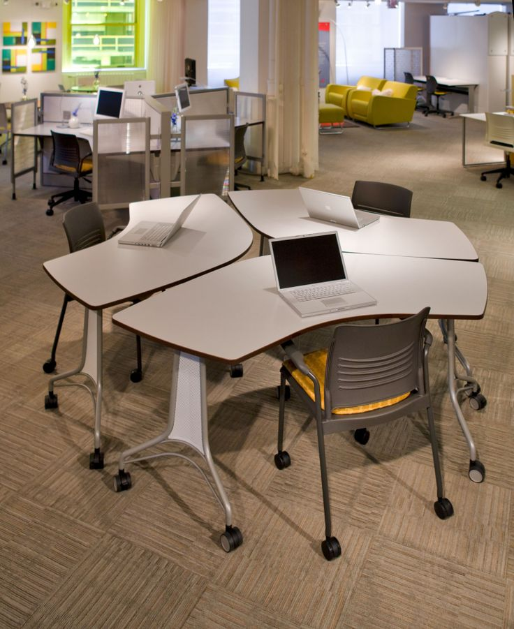 Modern Classroom Tables : Enlite tables and strive chairs make reconfiguring
