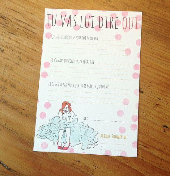 la belette rose et son bridal shower kit à télécharger pour les wallt girls!
