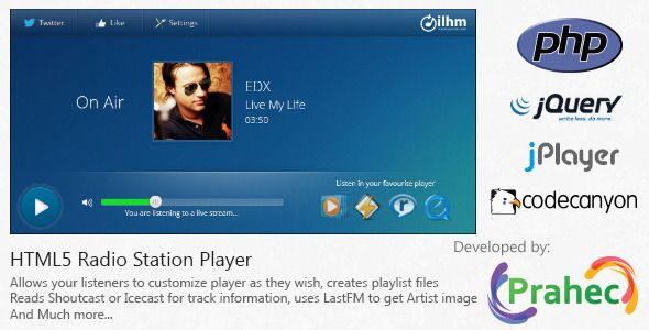 HTML5 Radio Station Player (Images and Media)