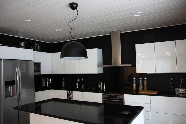 mustavalkoinen keittiö  Google haku  Ideoita tulevaan