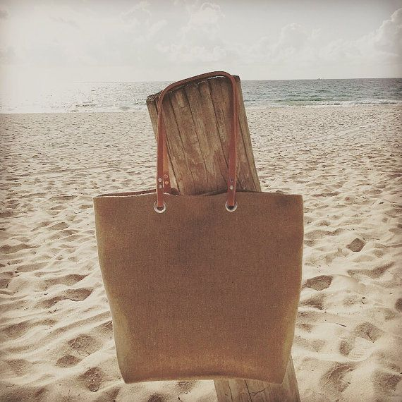 Jute Beach Bag Beach Tote Woven Tote Bag by IndependentReign