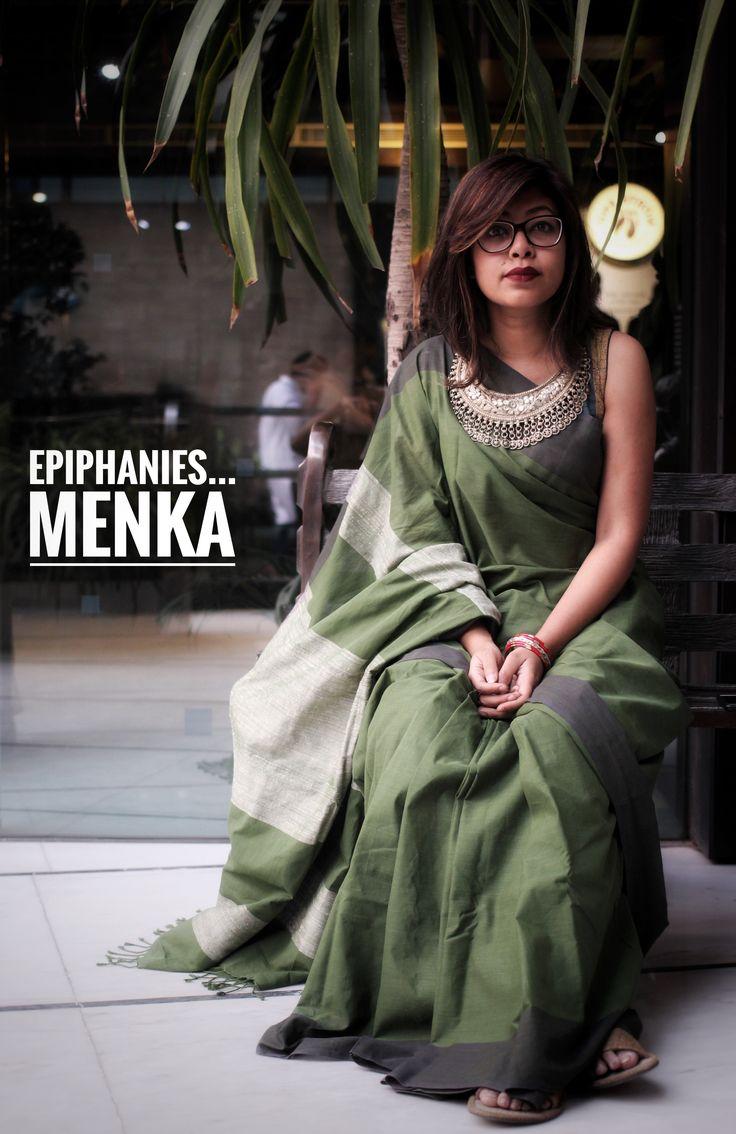 Epiphanies... by Menka #Spring2017 #Fashion #Bangladesh #Saree #Ecofriendly #Cotton #Handloom