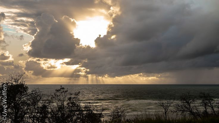 The 8th Day of 2015....Weather over the Ocean captured at Sunrise Beach in Queensland Australia.....Gotta love It