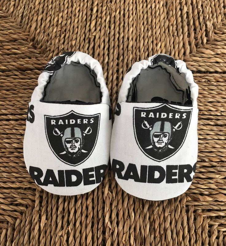 A personal favorite from my Etsy shop https://www.etsy.com/listing/523211895/raiders-baby-shoes-baby-slippers-nfl