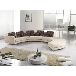 A94 Fabric Beige Sectional Sofa - 2090.0000