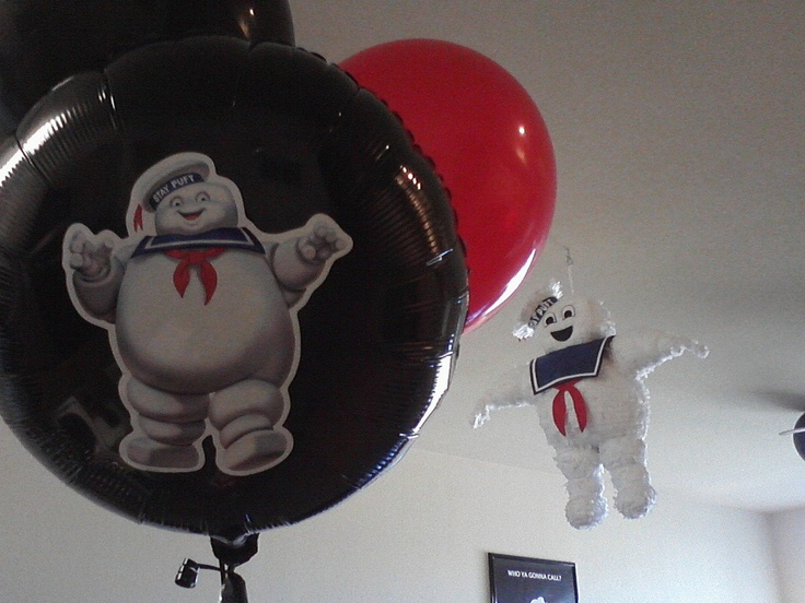 Ghostbuster Balloon And Pinata Ghostbusters Pinterest