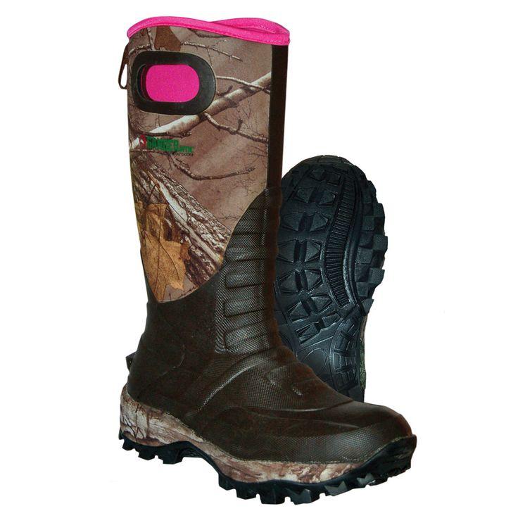 Guide Series Womens Realtree Camo Vortex 750g Insulated Rubber Boot  #Realtreecamo