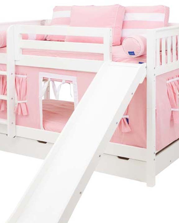 Smile 23 Low Bunk Bed With Straight Ladder Slide And