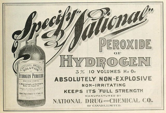 Hydrogen peroxide: National Drug and Chemical Co.