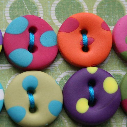 Fimo buttons, would love them as earrings