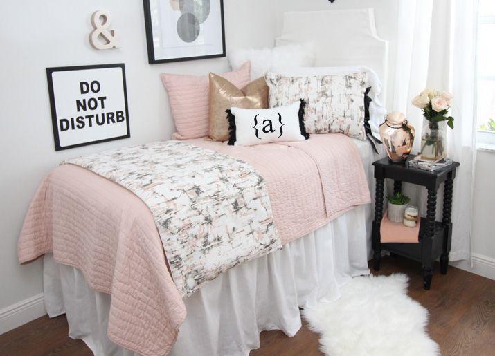 Dorm Room Bedding Sets Twin Xl Bedding Sets Dorm Bedding Sets White Dorm Room Dorm Room Decor