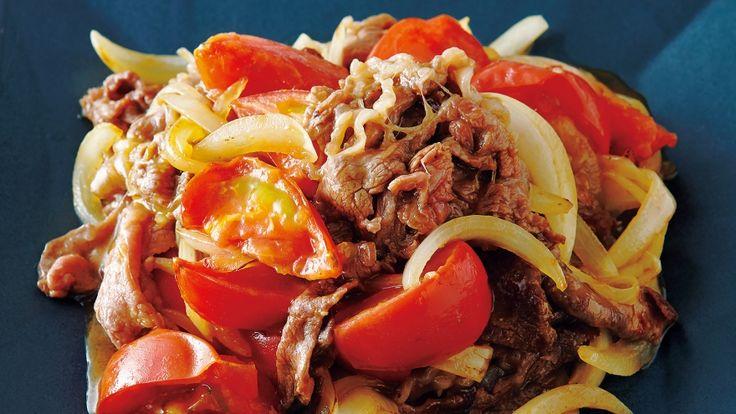 塩田 ノアさんのトマト,牛薄切り肉を使った「トマトと牛肉のオイスターソース炒め」のレシピページです。コクがあるのにすっきりとした味で、ご飯がすすむ!トマトは、ササッと火を通すのがコツ。トマトの酸味と牛肉のうまみが絶妙なコンビです。 材料: トマト、牛薄切り肉、A、たまねぎ、B、サラダ油