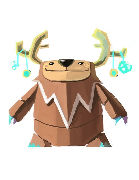 Early concept art for our Sasquatch character #kids #apps #indigenous