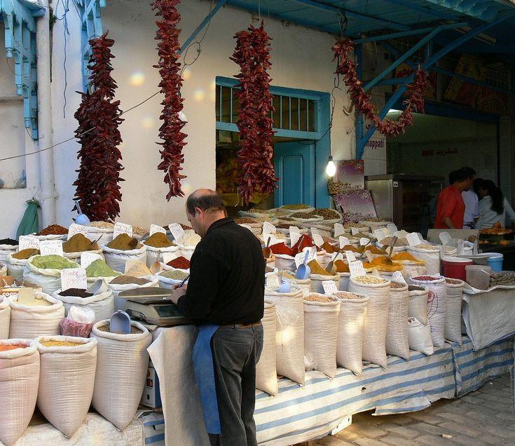 Trh v Tunisku