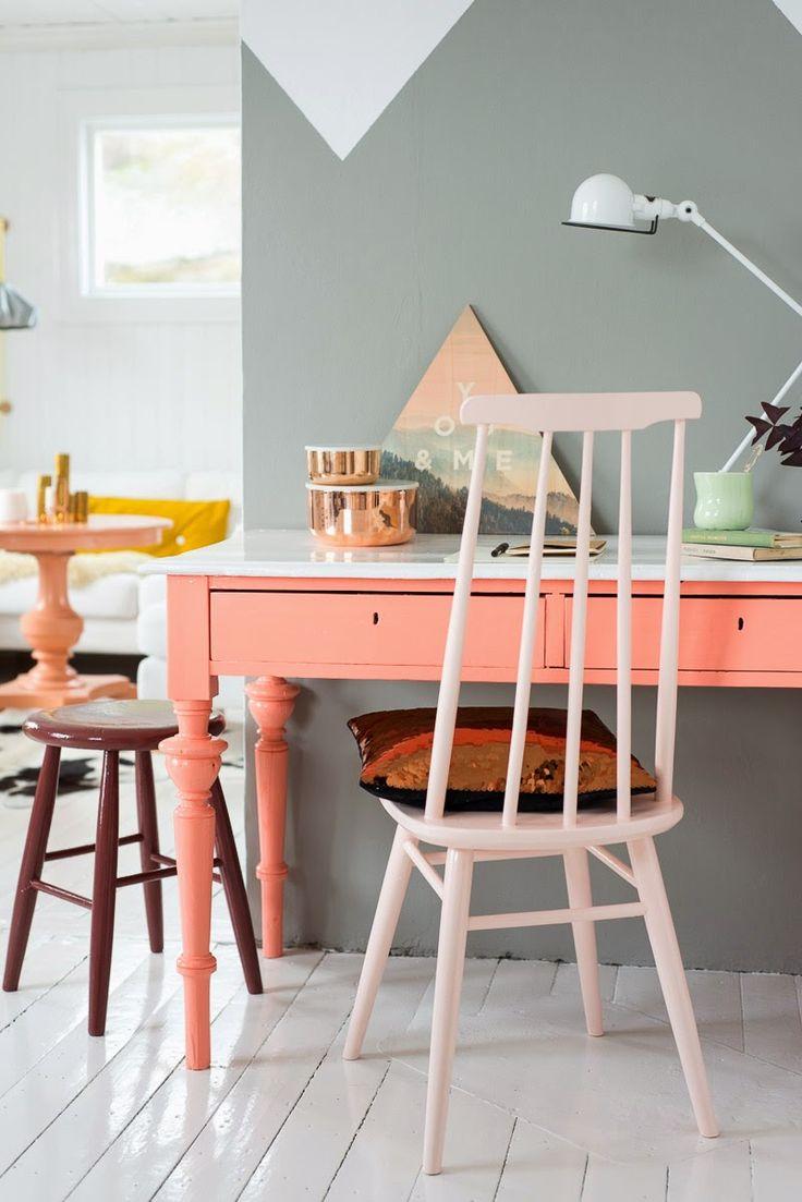 Pretty home design in pink