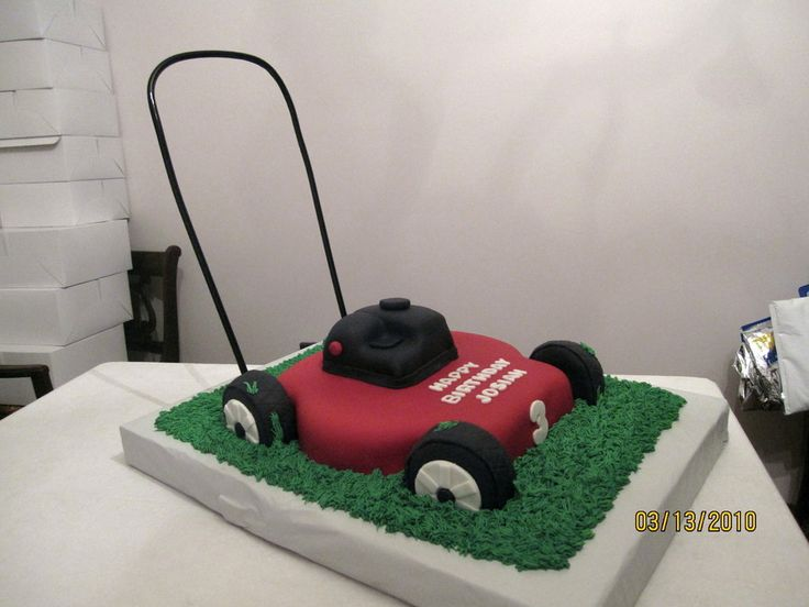 Push Lawn Mower Birthday Cake