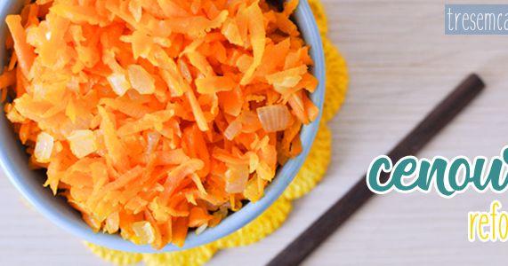 Três em Casa: Como fazer cenoura refogada. Iniciantes na cozinha.