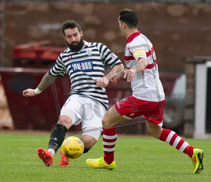 Queen's Park's Bryan Wharton on the ball during the SPFL League Two game between Stirling Albion and Queen's Park.