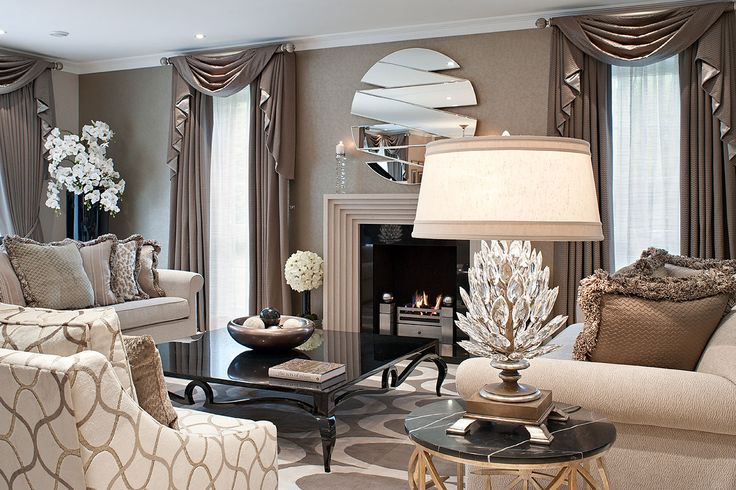 Timelessly elegant drawing room with textured neutral palette © Hill House Interiors