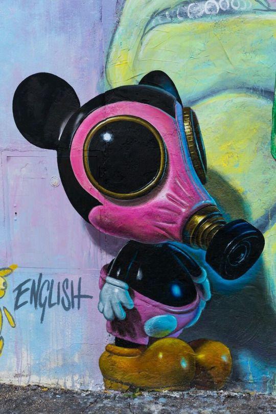 Street art by Ron English