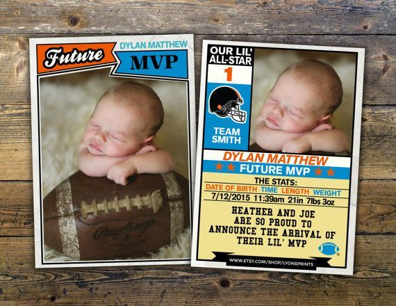 17 Best images about Sports Birth Announcements – Birth Announcements Indianapolis