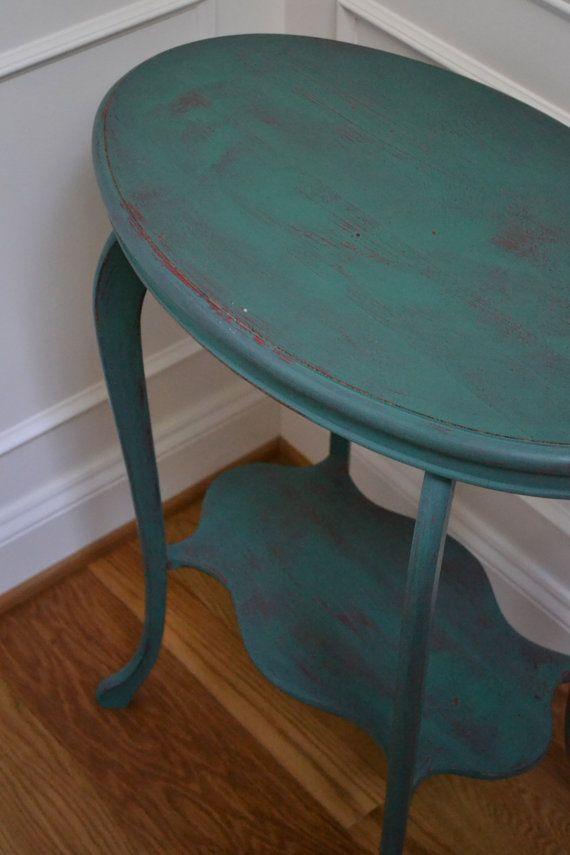 Peint+à+la+main+de+TUrquoise+en+détresse+par+meredithmbrooks,+$125.00