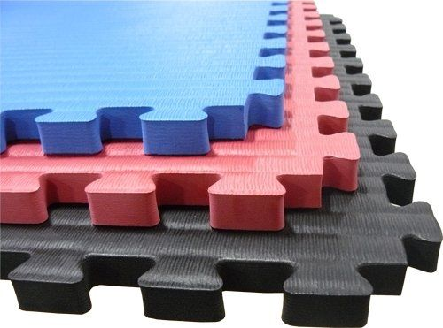 "100 Sq. Ft. BLUE Martial Arts (3/4 Inch Thick, 25 Tiles + Borders) We Sell Mats Anti-fatige Interlocking EVA Foam Flooring-each Tile 2' x 2' x 3/4"" thick, Blue"