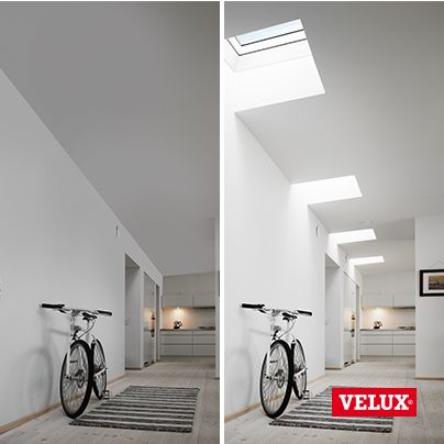 Brighten up a dull hallway. The VELUX CFP domed flat roof window has it all - excellent thermal insulation and sound proofing, weatherproofing, durability, and improved security.
