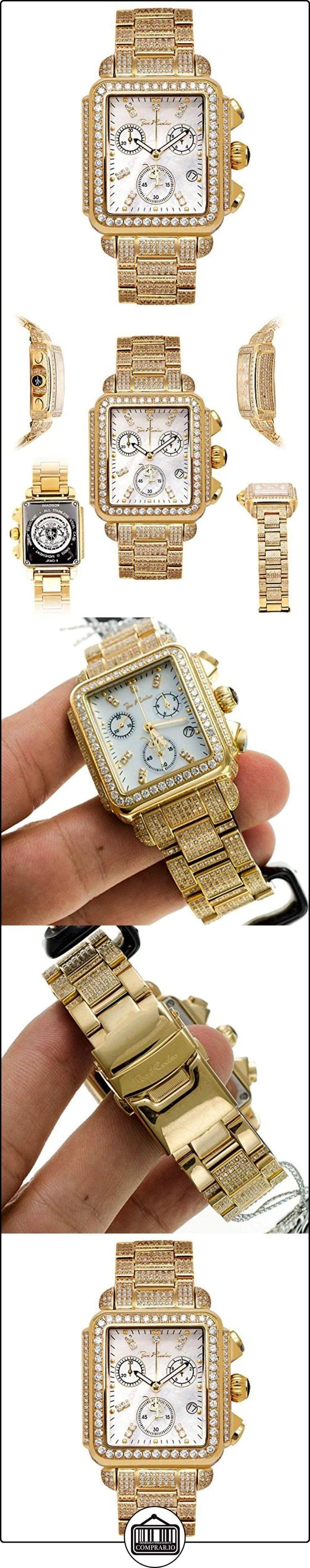 Reloj de mujer con forma de diamantes y Joe Rodeo - MADISON dorado 10,25 de quilate  ✿ Relojes para mujer - (Lujo) ✿