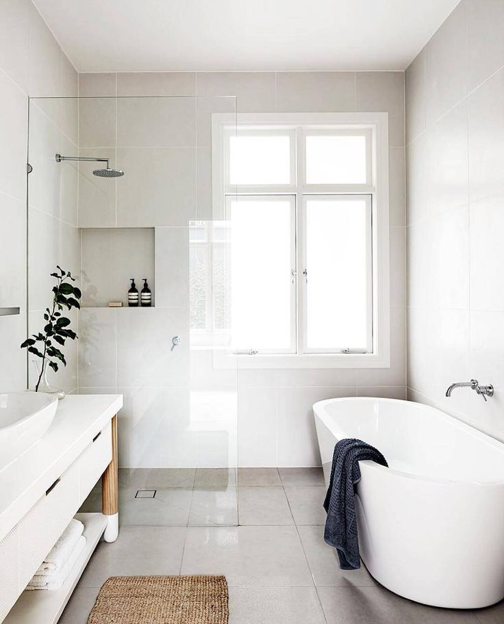 S I M P L I C I T Y. via @designstuff_group #scandicliving #bathroom #scandinavian #whiteliving #simplicity