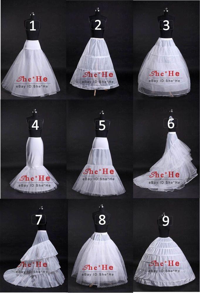 Wedding A-Line/Fishtail/Mermaid Hoop/Hoopless Ball Gown Crinoline Petticoat Slip