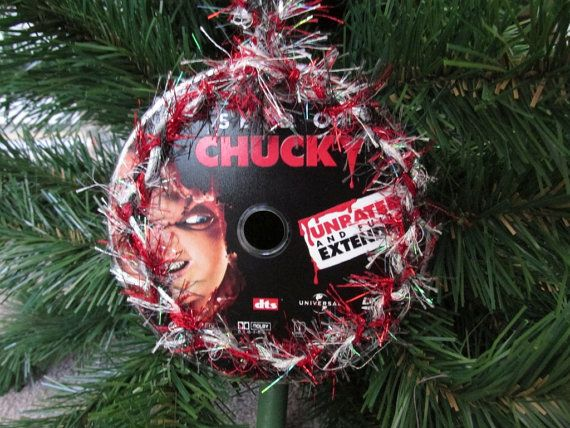 Seed of Chucky Upcycled Horror DVD Ornament by JingleHell on Etsy