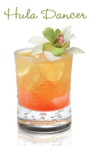 The Hula Dancer ~ Pineapple vodka, vanilla rum and pineapple juice.