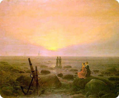"""Moonrise over the Sea"" | CASPAR DAVID FRIEDRICH."