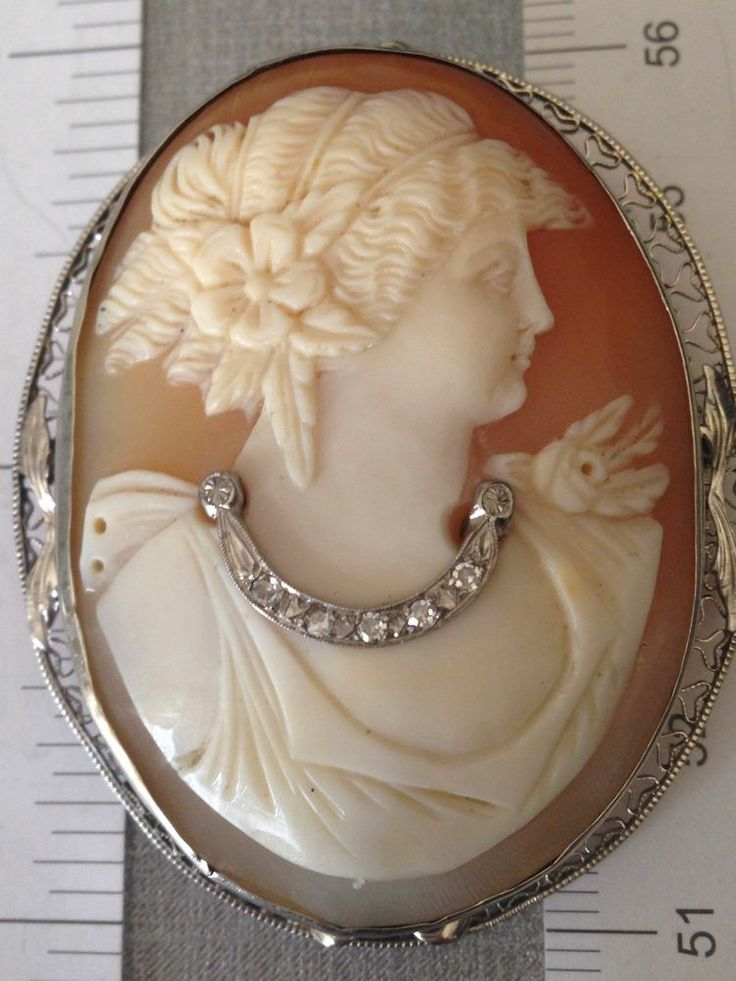 624 best cameo images on pinterest cameo jewelry ancient jewelry unusual cameo pin pendant diamonds 14k white gold filigree antique vintage mozeypictures Choice Image