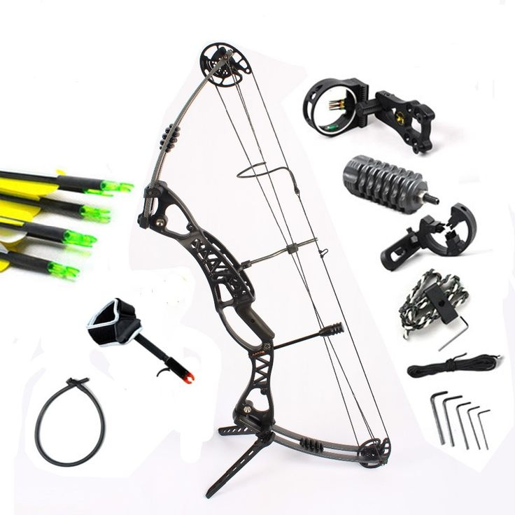 322.05$  Watch now - http://alir8f.worldwells.pw/go.php?t=32601422596 - Black, 50-60Lb Right  & left  handed Magnesium Hunting  shooting compound bow & arrow set for beginners release 5-pin sight rest