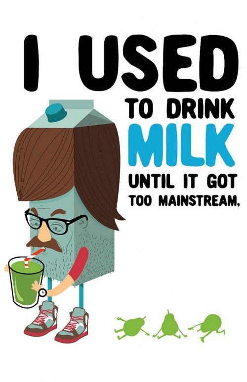 solía beber leche hasta que se hizo demasiado convencional | Ilustration by Santo Chilango
